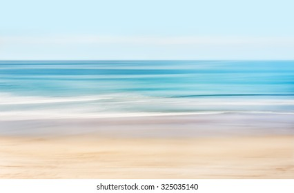 A high-key, abstract seascape of the Pacific ocean off the coast of California.