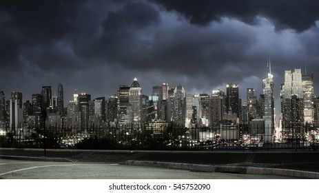 A high-key NYC night scene. some grain due to low light.