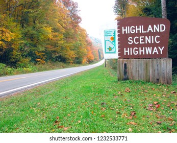 Highland Scenic Highway, National Scenic Byway, Nicholas County, West Virginia, USA, Route 55, autumn, fall color October 2003