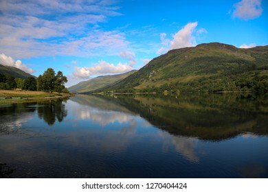 Highland Scottish loch on an early summer day