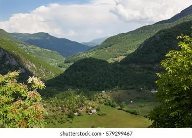Highland village. Montenegro.
