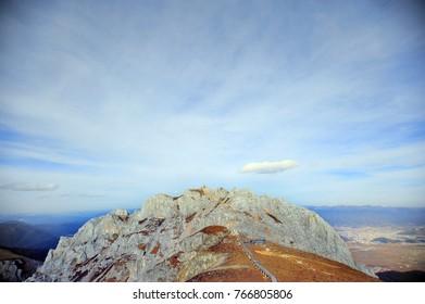 The highlands mountain view at Shangri'la China