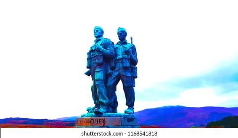 Highlands Scotland - November 5 2017 The Commando's Memorial