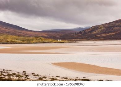Highlands, Scotland. On the Kyle of Durness along the A838 road. Kyle of Durness is a coastal bayon the north-west coast of Scotland in the traditional county of Sutherland.