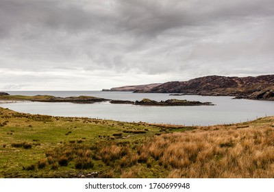 Highlands, Scotland. Scourie Bay. Scourie (Scottish Gaelic: Sgobhairigh) is a village on the north west coast of Scotland, between Ullapool and Durness, in the historical county of Sutherland.