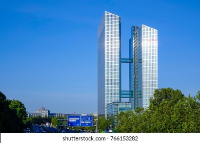 Highlight Business Towers in Munich, Bavaria, Germany, Europe, 04. July 2014