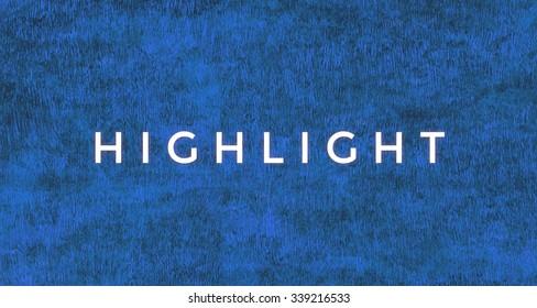 Highlight word.