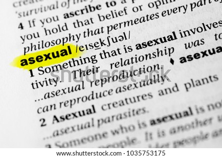 What does the word asexual mean