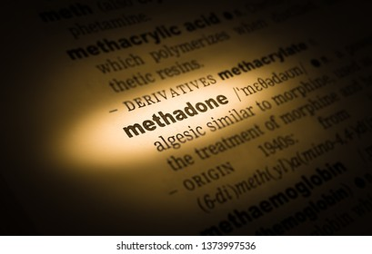 A highlighted word in a page that reads: methadone