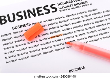 Highlighter on documents business