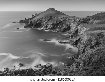 Highlights over Rocks, The Rumps, Pentire Point, Cornwall