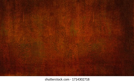A highly detailed dark grunge rust background and texture.