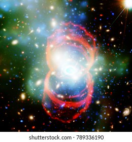 Highly detailed epic galaxy and stars. The elements of this image furnished by NASA.