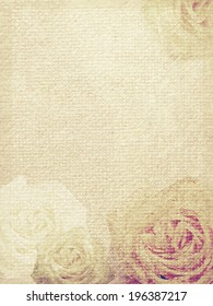 Highly detailed, Old vintage card with roses