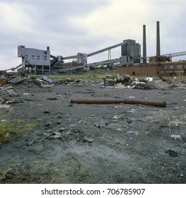 Highly polluted site of of former coking plant and chemical works, UK