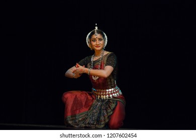 A highly talented junior Odissi dancer is stunned to see the real form of the lord during the Odissi evening recital event on October 19,2018 at Bharatiya Vidhya Bhavan in Bengaluru,India