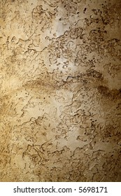 highly textured interior wall