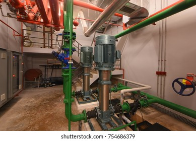 High-pressure pumps Water pumped from the underground tank to tank top.