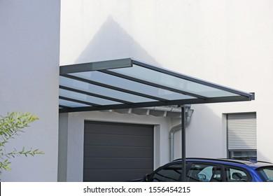 High-quality carport made of aluminum