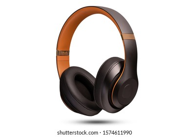 High-quality headphones on a white background. Headphone product photo
