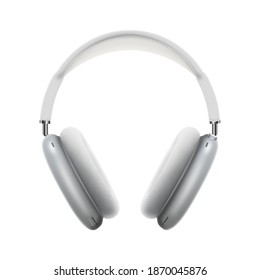 High-quality headphones on a white background. Airpods max
