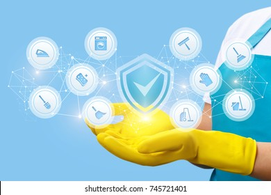 High-quality implementation of cleaning and housework in the hands of the employee .