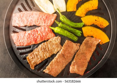 High-quality Japanese beef roasted meat set