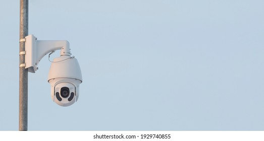 A high-quality rotating video surveillance camera with night vision is installed to ensure the safety of the territory.
