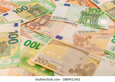 high-quality texture of euro banknotes