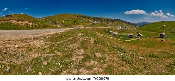 High-Resolution Landscape Panorama of Adjara region of Georgia near Khulo village
