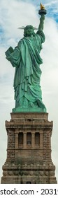 High-resolution shot of the Statue of Liberty from the Back