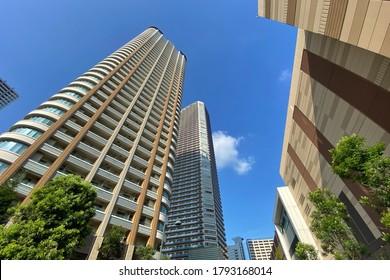 日本武蔵小杉の高層アパート