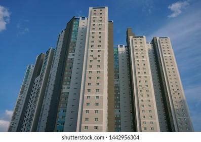 High-rise apartment in Korea. Koreans love living in apartments. (Daegu, Korea. Jun. 17, 2019)