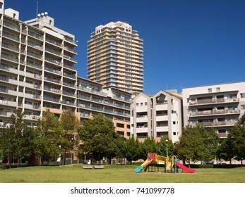 High-rise apartment street of Makuhari