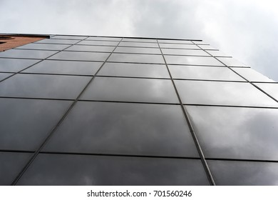 High-rise building with a dark glass