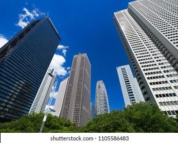 High-rise building streets in Shinjuku
