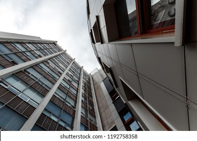 High-rise building view from below, Business concept.