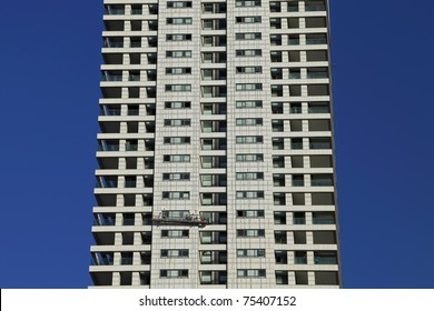High-rise building and window cleaners
