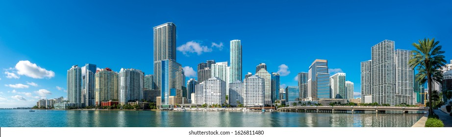 Highrise buildings in Brickell, Miami.