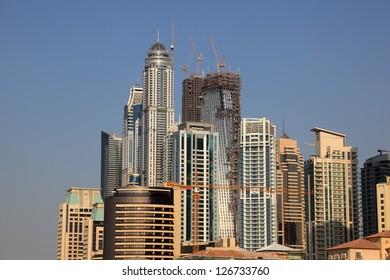 Highrise buildings of the Dubai Marina, United Arab Emirates