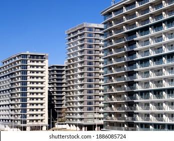 High-rise condominium built in the seaside area of Tokyo
