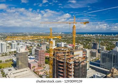 Highrise construction Fort Lauderdale Florida
