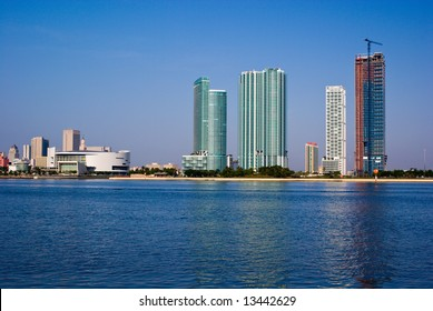 Highrise Construction on Miami Bayfront