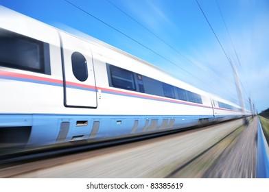 "High-speed commuter train. Express ""Peregrine"" Russia. Train ""Sapsan"""