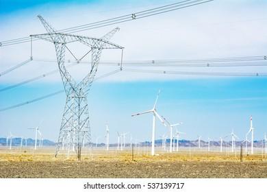 high-tension pylons