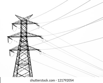 the high-voltage electric power tower