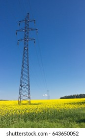 High-voltage powerline in Europe