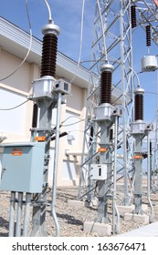 high-voltage substation with disconnectors
