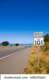 Highway 101 sign in Northern California