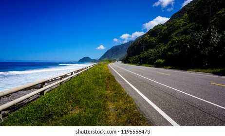 Highway 11 from Hualien to Taitung at the east coast of Taiwan, where the road is right next to the sea.